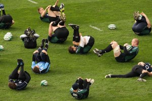 rugby warm up